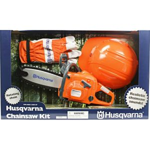 Dječja igračka motorna pila + Rukavice + Zaštitna kaciga HUSQVARNA